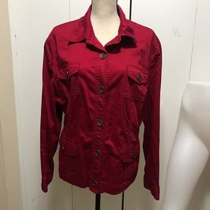 Jones New York Sport Size XXL Red Top/ Jacket